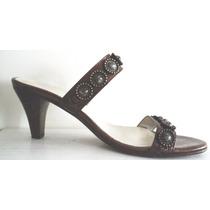 Sandalias Marca Ferraro Color Bronce Un Uso Imperdibles