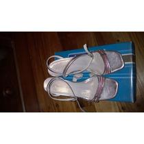 Sandalias Plateadas N° 37 Para Fiesta