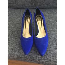 American Pie Zapatos Gamuza Azul Taco