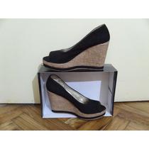 Zapatos De Gamuza Taco Chino Boca De Pez N°39 M. Envios