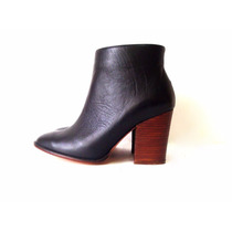 Zapatos Botas Botitas Botineta Caña Corta Mujer De Cuero