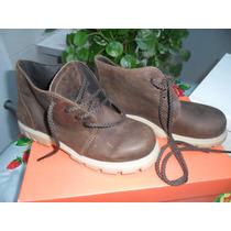 Zapatos Escolares Cuero Marrón Nº 32