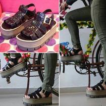 Zapatos Sandalias Plataforma Madera/goma Franciscanas Oferta