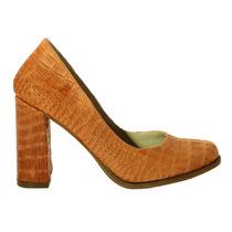 Zapatos Jammy Con Taco Medio Coral - Tops Zapatos Verano