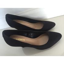 Zapatos Negros Gamuza Nuevos Talle 36 Importados Taco Chino
