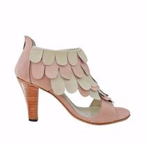 Clippate Sandalias Zapatos Taco De Novia Mujeren Cuero
