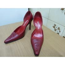 Zapatos Stilettos 100% De Cuero Ferraro