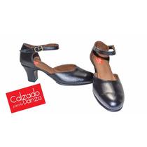 Zapatos De Danza Jazz De Cuero Modelo Profesional