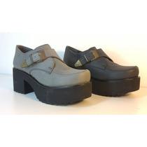 Zapato Tipo Mocasín Con Suela Ruta - Nina Molina - Art. 7050