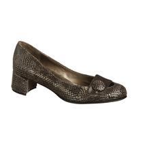 Zapatos Cuero Reptil Y Cuero Cabritilla Negro - Frou Frou