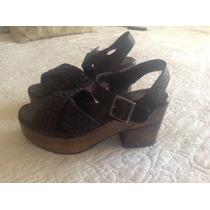 Zapatos Paruolo Negros De Cuero Nuevos