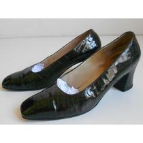 A Revisar Zapatos Cuero Charol Croco Graciel - Numero 37