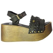 Sandalias Dubai Con Base De Madera - Tops Zapatos Verano