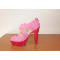 Zapatos De Mujer - De Gamuza Con Taco Alto Y Plataforma