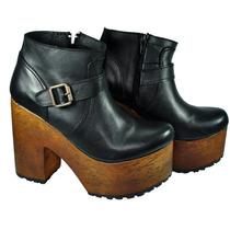 Botinetas Mujer Borcego Botas Zapatos Almacen De Cueros
