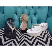 Ojota Alta Plataforma Goma Taco Chino Zapato Sandalia Mujer