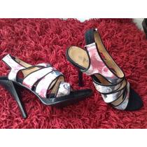 Sandalias Altas De Vestir Estampado Original De Diseñador