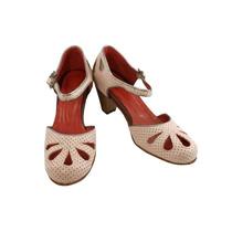 Zapatos Ballerinas Con Taco En Cuero Rosa Civil Novias