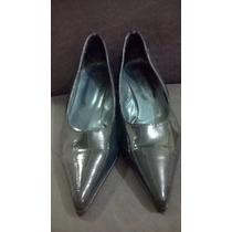 Zapatos Estilo Charol Verde Oscuro Lady Comfort N°37