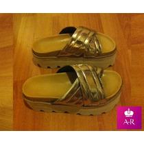 Zapato Sandalia Con Plataforma Con Tira Cruzda!! Hermosa!!