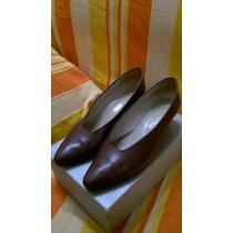 Zapatos Taco Bajo De Mujer Talle 40 Excelente Estado/calidad