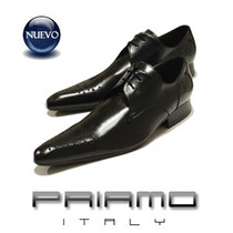 Zapatos Cuero Punta Hombre Priamo Italy [px002418]