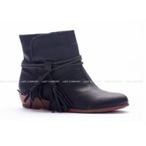 Botas Taco Chino Con Flecos - Lady Comfort - Zapateria Isis
