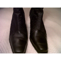 Botas Cuero Woodland Forradas Caña Media N° 39 Impecable