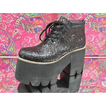 Zapatos Zuecos Glitters,charol,reptil Base Tractor Art 1390