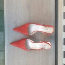 Zapatos Sandalias Paruolo Color Rojo Coral