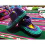 Pantuflas De Lana Al Crochet Para Pequeños