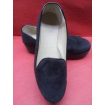 Zapatos Gamuza Guillermina Pancha Plataforma Primavera