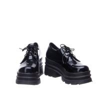 Zapatos Zapatillas Mujercon Plataforma De Goma Charol