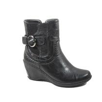 Botas Mujer Invierno Zapatos Chocolate Hebilla Elastico 6116