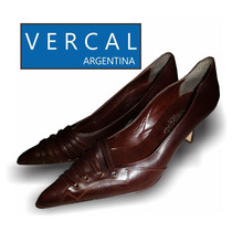 Zapato Ver-cal Impecable Nº 39 Color Petrel Oscuro
