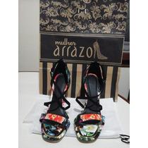 Zapatos De Fiesta Arrazo De Cuero Multicolor