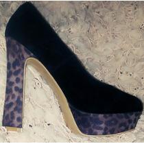 Zapatos Animal Print Leopardo Importado Stilettos Mujer Sexy