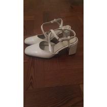 Zapatos Casamiento, Fiesta De 15 Talle 40,una Postura