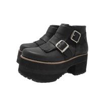 Botas Zapatos Mujer Bucaneras Cuero Plataforma Paradisea