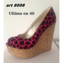 Zapato Mujer Taco Chino Boca De Pez
