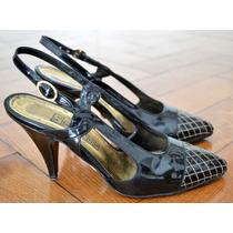 Zapato Sandalia Stiletto Fiesta Tango Clasico De Charol