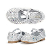 Zapatos Importados Nena Fiesta, Plateados, Nuevos, Talle 22