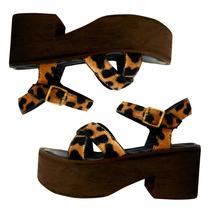 Sandalias Mujer Plataforma Zapatos Mujer Taco Animal Print