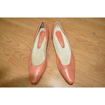 Zapatos Clásicos Color Coral N° 36 Nuevos