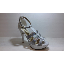 Sandalia Stiletto Fiesta Vestir Plataforma Taco Zapato Mujer