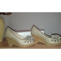 Kouro. Zapatos Sandalias Con Base De Corcho