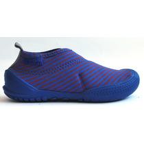 Zapato Zen - Diez Indiecitos - Azul Y Rojo - Lycra Y Tr