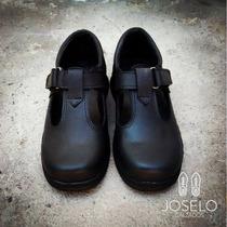 Zapatos Colegiales De Cuero Nenas Nenes Joselo Calzados