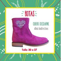 Botas De Cuero T 30 A 37 Nena Diez Indiecitos! Oferta!!
