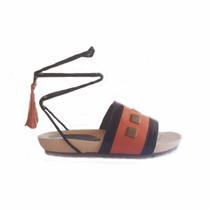 Clippatesandalias Chatitas En Cuero Charol Tachas Zapatos